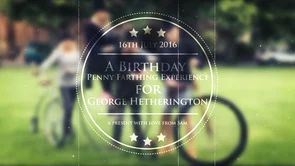 Join the excitement of riding high on one of the finest Penny Farthings from Mr Phoebus with George Hetherington sash has her Birthday Experience gifted by Sam Moinet. Filmed on July 16th in the Wonderful grounds of Worcester Cathedral. Filmed, Edited and Presented with love and kindness by Mr Phoebus
