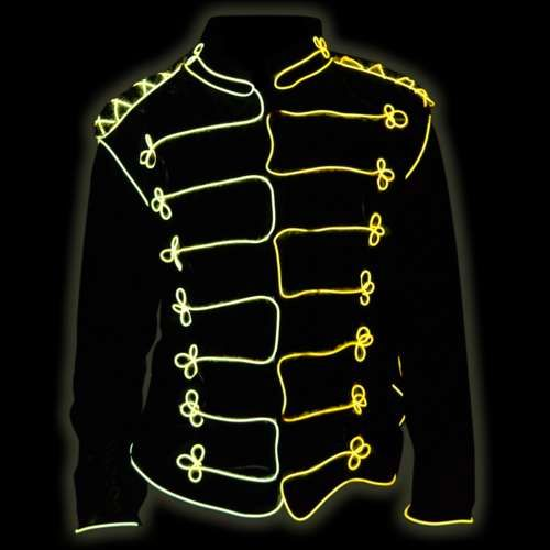 17 best images about clothing el and led glow uv the folks at ez el have another cool costume idea and show you how to make this el wire michael jackson jacket i think it would look awesome attached to