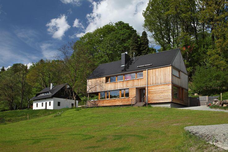 Moderní dřevostavba v Prysku