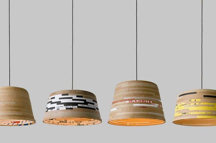 beute lamp, Lampenschirm, recyceling, wellpappe, unikat, herrwolke, passagen 2011, michael konstantin wolke 01