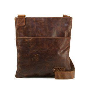 Manzoni Distressed Leather Satchel: Tan | $185.00