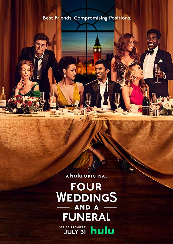Trailers Spotlight Knives Out And Hulu S Four Weddings A Funeral Miniseries Flixchatter Film B Good Comedy Movies Romantic Comedy Film Romantic Comedy