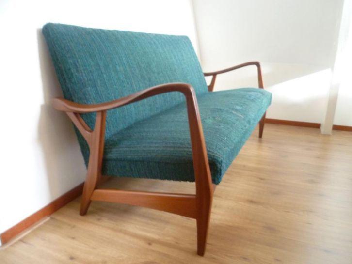 Mooie vintage jaren 50 60 bank scandinavisch design for Scandinavisch design bank