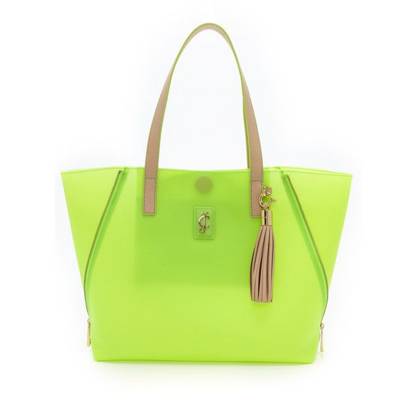 Juicy Couture Pacific Coast Tote ($148) ❤ liked on Polyvore featuring bags, handbags, tote bags, lime, totes, lime green tote bag, tote purses, tote handbags, zip tote and handbags totes