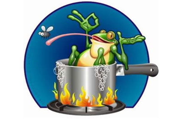 The Toad in the pot of slowly cooking water