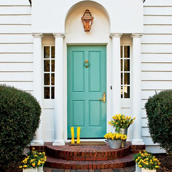 What First Impression Does Your Front Door And Walkway: 17 Best Ideas About Aqua Front Doors On Pinterest