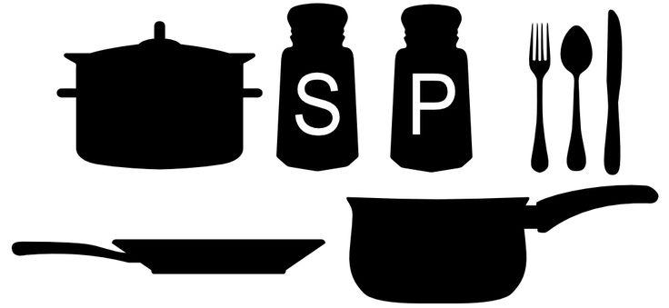 Free Svg File Cooking Utensils Pots Pans Silverware