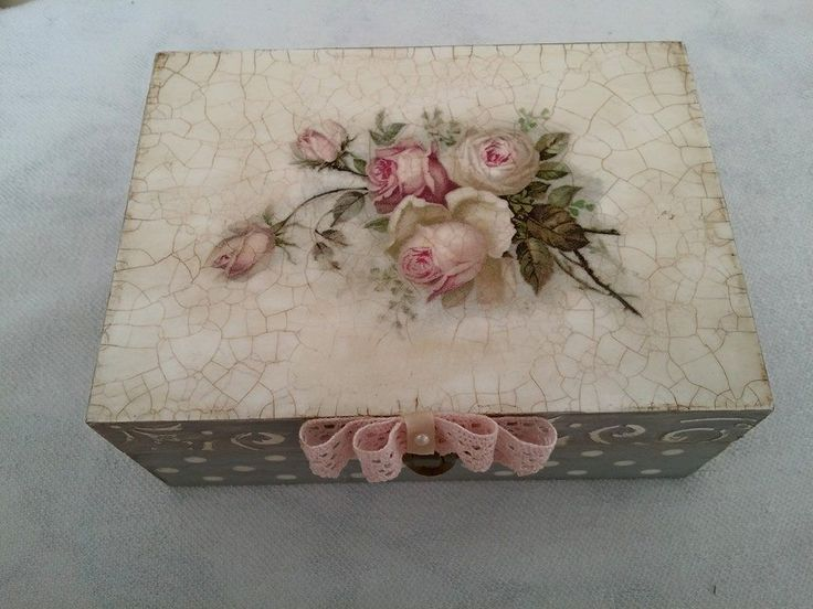 Pink roses decoupage
