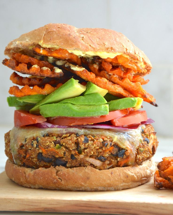 I had been craving veggie burgers now for weeks. This is a revamp of my old school recipe. And of course we needed to make a 3 course meal of the thing. I highly recommend the add ons I used. This was epic. Also, I always double this recipe .. …