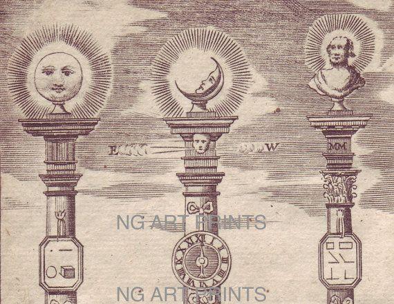1700s Architecture Print, Antique Masonic Print by NGArtPrints, $175.00