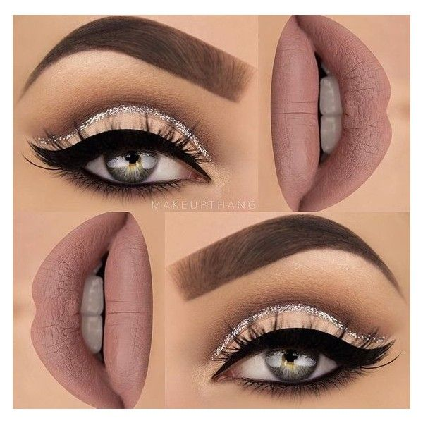 Make up thang | cashmere lime crime, glitter cut crease cat eye |... ❤ liked on Polyvore featuring beauty products, makeup, lime crime makeup, lime crime and lime crime cosmetics