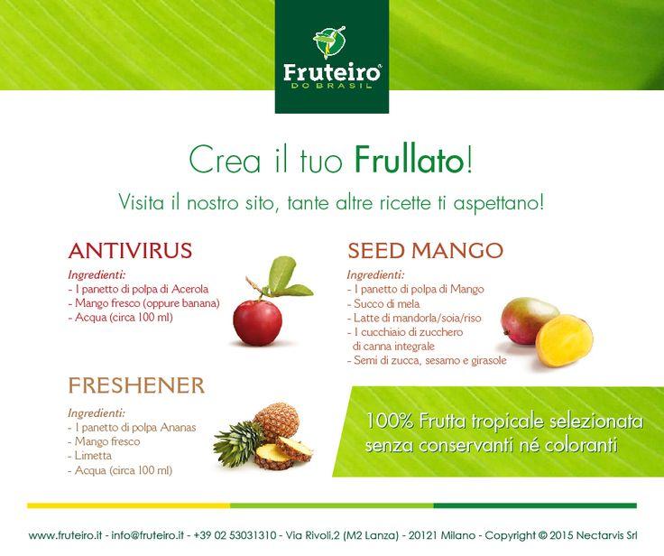 Grazie alla grande varietà di frutta tropicale puoi creare il tuo frullato sano e gustoso! http://www.fruteiro.it/frutti-tropicali-brasiliani #Fruteirodobrasil #Polpadifrutta #Frullati