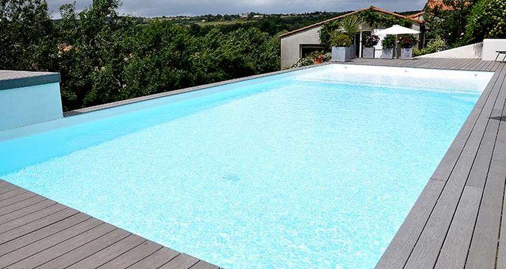 Les 25 meilleures id es de la cat gorie liner pour piscine for Liner piscine sur mesure avec escalier