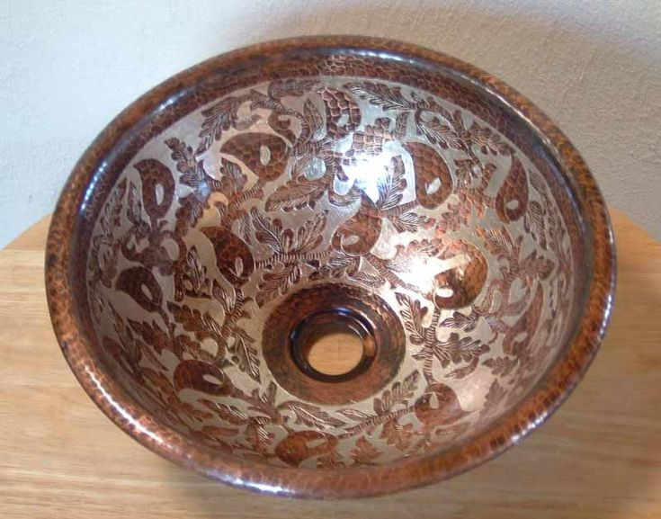 Mexican Hand Painted Copper Vessel Sink Since I Live In Copperton Don T