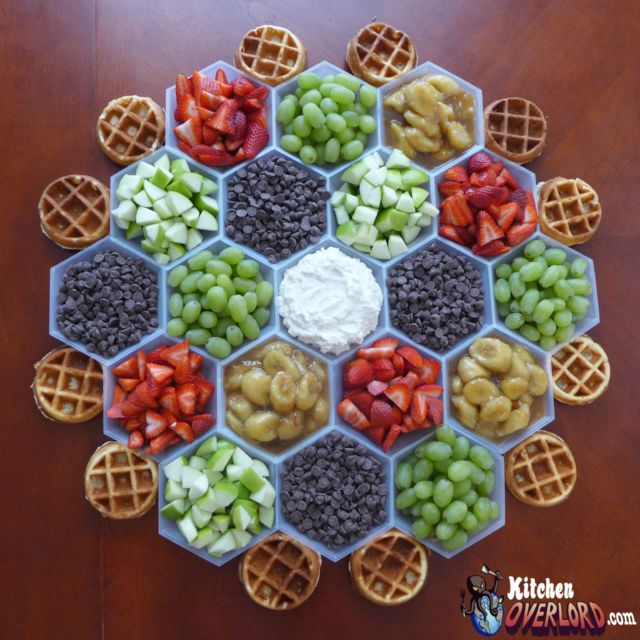 """Settlers of Catan Waffle Bar from """"Wood for Sheep: The Unauthorized Settlers Cookbook"""""""
