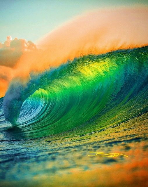 beautiful color background wave - photo #7