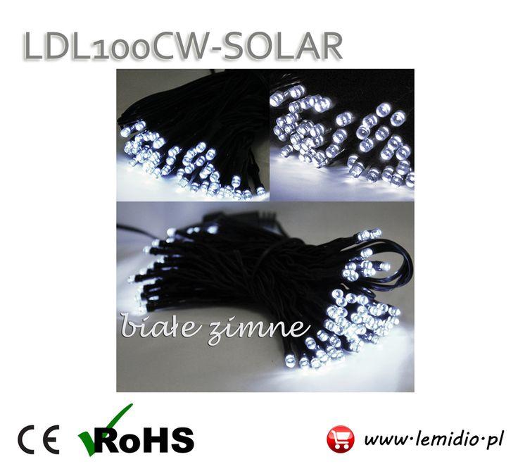 Lampki choinkowe LED SOLAR białe zimne