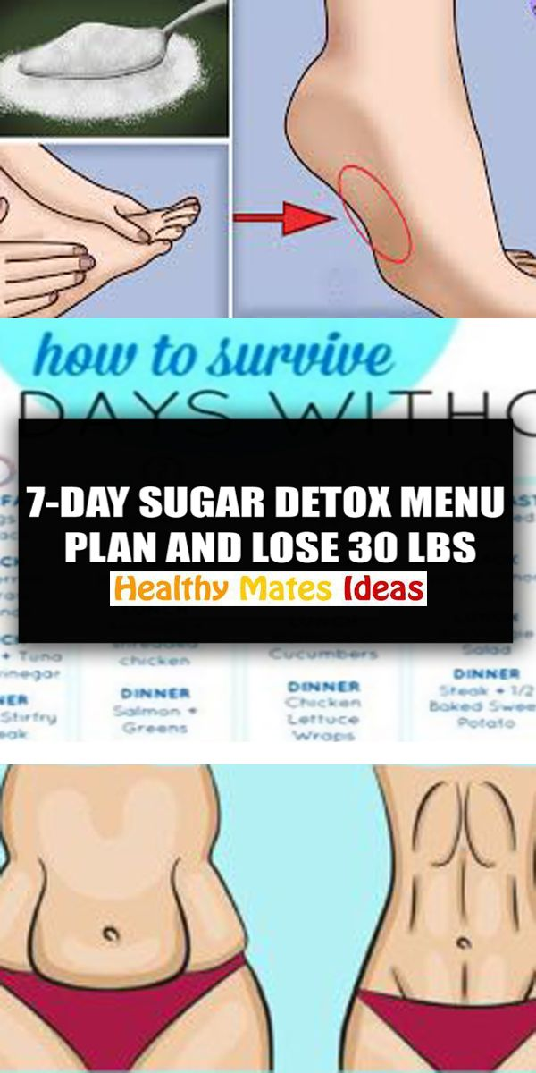 Lose 30 lbs with This 7-Day Sugar Detox Menu Plan! At this point, we are all wary of how bad sugar is for our overall well-being, but it seems that we cannot di