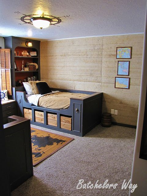 Cool Built-Ins -- Pirate Room with lots of custom details. Love the