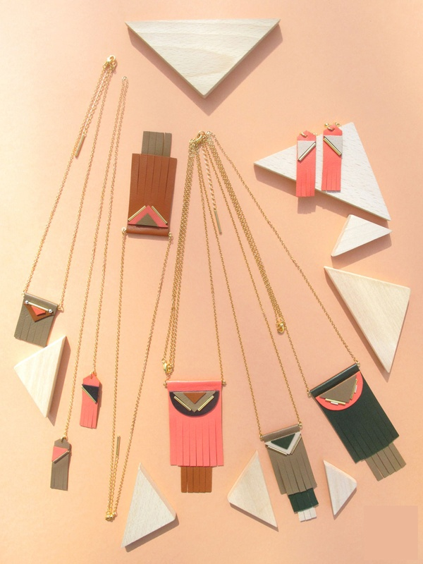 DIY leather necklaces