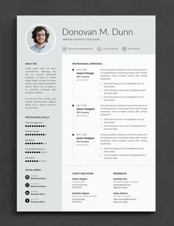 Professional Cv Resume Template Indesign Indd In 2021 Indesign Resume Template Indesign Templates Cv Resume Template