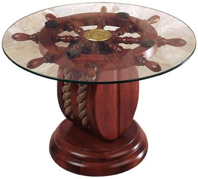 Ships Wheel Pulley Table Nautical Decor Pinterest Mom Tables And I Love