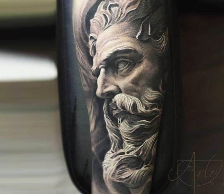 Zeus tattoo by Arlo Tattoos
