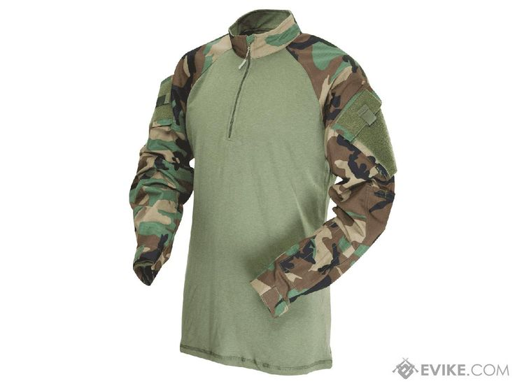 Tru-Spec Tactical Response Uniform 1/4 Zip Combat Shirt - Woodland (Size: Large)