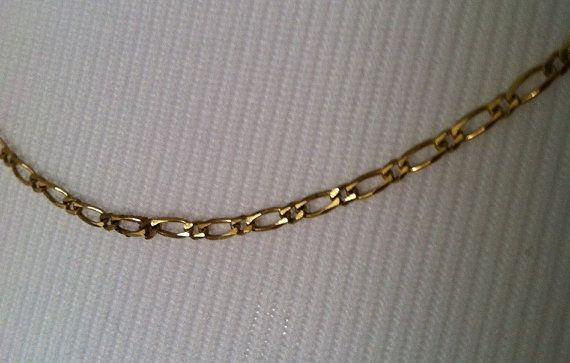 14K Italian Gold Chain Gold Necklace by VeryVintageJewelsArt