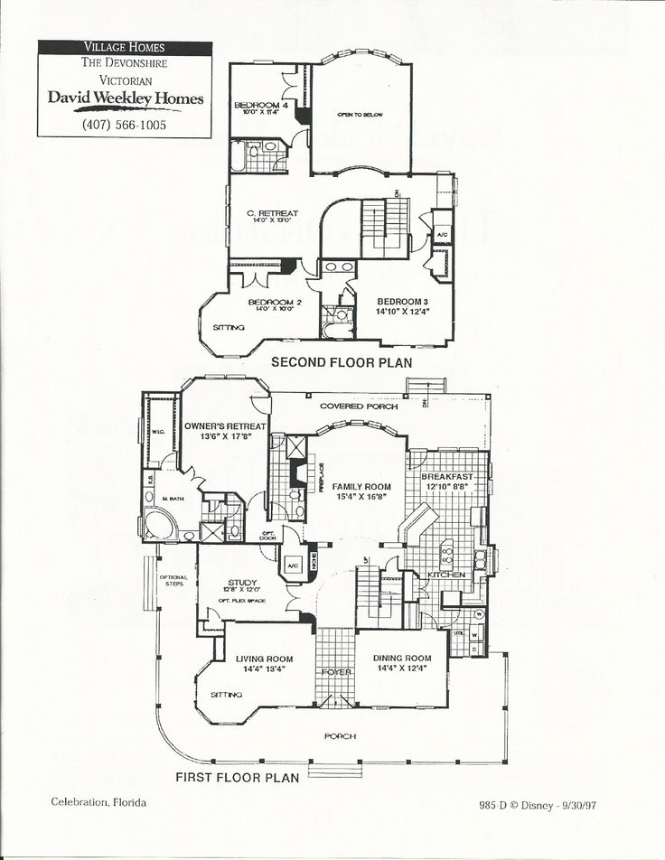 Devonshire victorian floor plans in celebration fl david for Devonshire floor plan