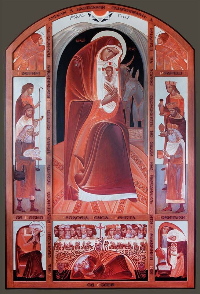 The Nativity. Luba Yatskiv. (board, levkas, acrylic, 200х140)