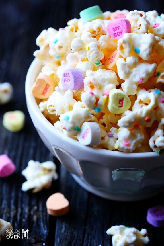 Birthday Hearts Popcorn (White Chocolate Popcorn)