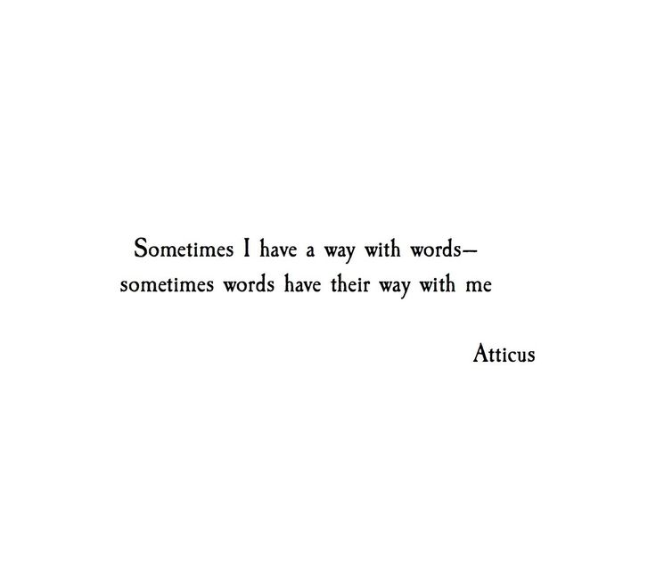 ***Especially your words...the entire day. I'm checking you out.