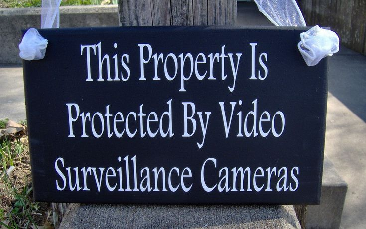 Outdoor Signs For Surveillance Needs Come visit my #etsy shop: Property Is Protected By Video #Surveillance #Cameras Wood Vinyl Sign #Security #System #Door Hanger Porch #Wood #Sign #Private #Home Sign Business http://etsy.me/2BrJhkG #privacy #protection #family