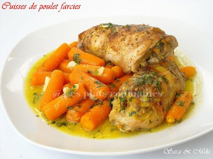 10 meilleures id es propos de cuisses de poulet farcies - Comment cuisiner les cuisses de poulet ...