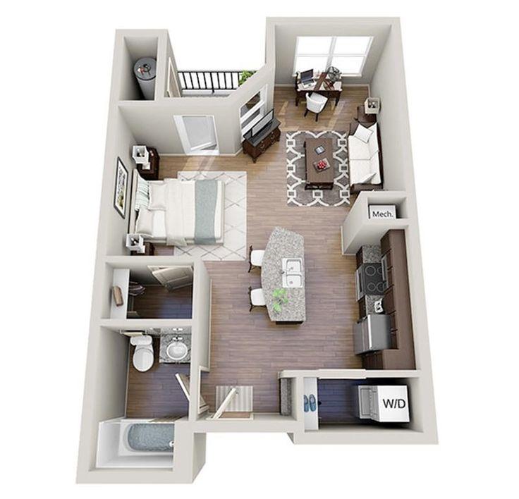 234 best floorplan: studio/one bedroom images on pinterest