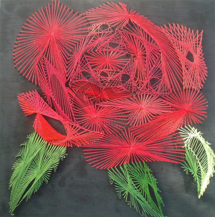 This is my Rose String Art that