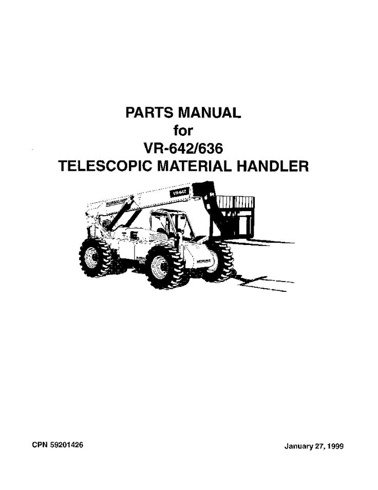 Ingersoll Rand VR-636 Telehandler Parts Manual PDF