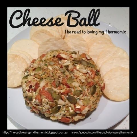 I love Cheese Balls for entertaining. They are something just a little bit different and so versatile.    The flavours can be changed to suit whatever you like. Some good combinations:  	Chives and garlic 	Garlic, rosemary, thyme 	Garlic, basil, parsley, oregano 	Spring onions 	Chilli 	Dried apricots 	Garlic and pepper  	Gherkins 	Capers 	Pepper and lemon zest  	Premade herb blends    Last