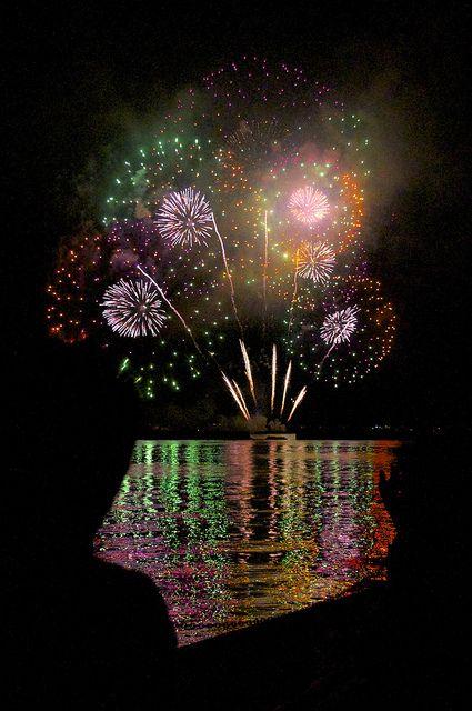 Lake Biwa firework festival, Japan