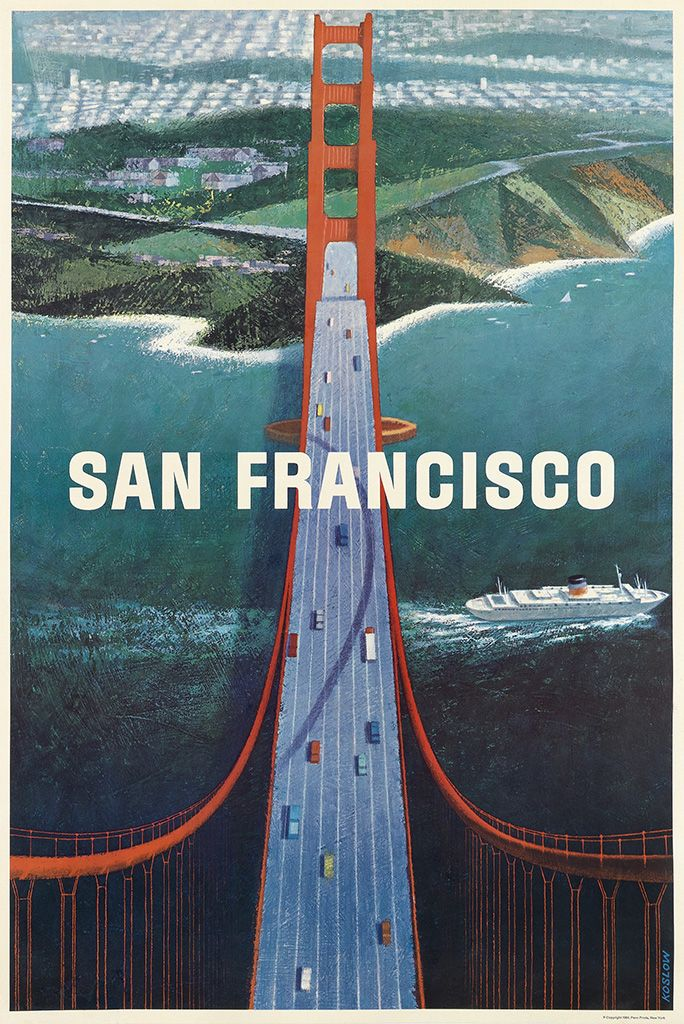 San Francisco travel poster, 1964 Artwork by Howard Koslow