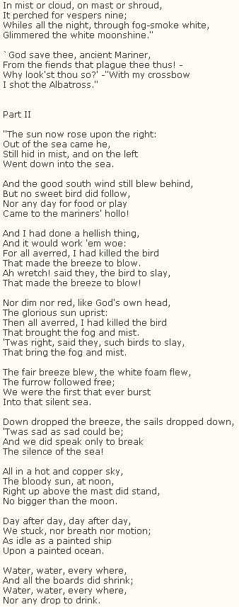 The Rime of the Ancient Mariner by Samuel Taylor Coleridge #poetry I've been looking for this one.