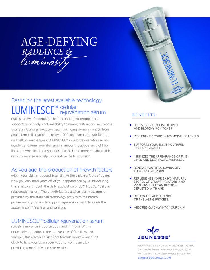 Luminesce Cellular Rejuvinating Serum