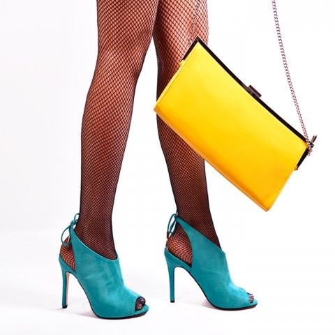 DONTLIE GREEN BLUE | Red Pumps