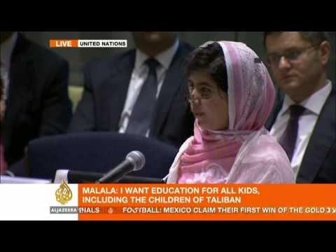 Malala Yousafzai's address to the UN - YouTube-You go girl!