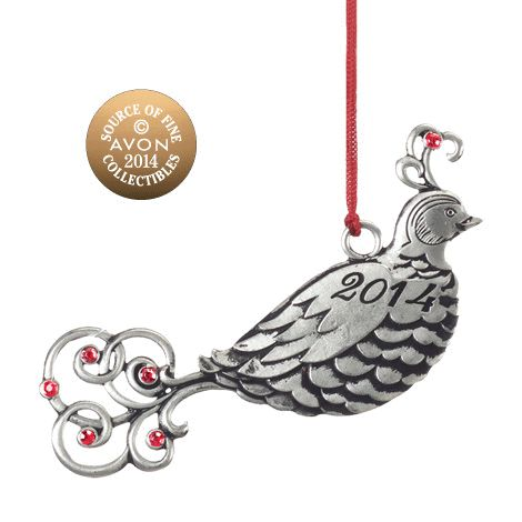 2014 Partridge Pewter Ornament  Shop New Avon products online  www.Facebook.com/shopavonwithdeon