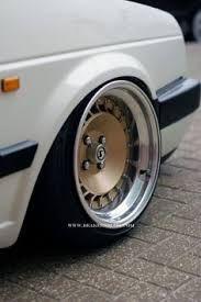 Resultado de imagen de golf mk 2 with transporter steel wheels