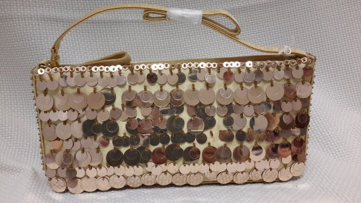 Gold Sequined S. Lucci evening handbag New