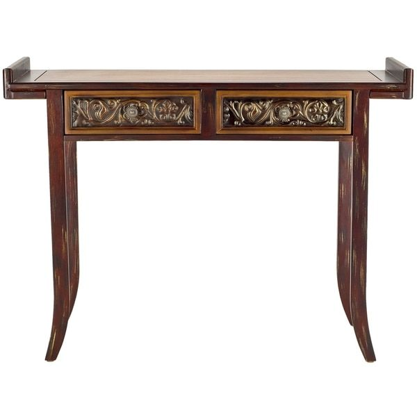 Safavieh Kasey Brown Wood Console Table By Safavieh