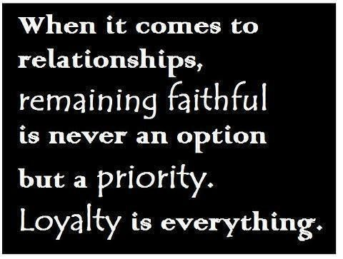 Be faithful and true to your promises is a priority. Never cheat it cuts deep and just makes you cheap #relationship #friendship